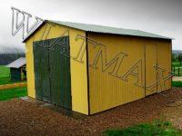 Garaż blaszany dwuspadowy dach, drzwi dwuskrzydłowe, garaz, garaże blaszane