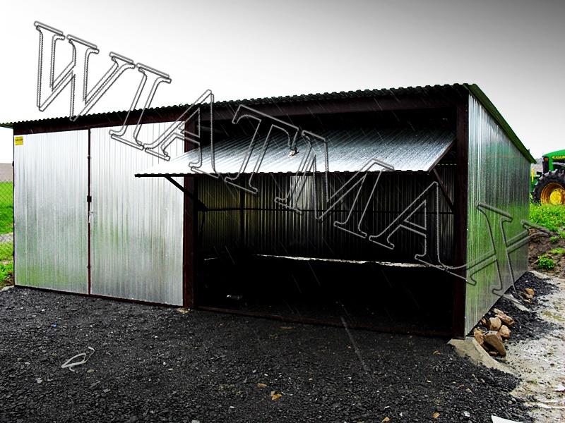 garaż blaszany, garaże blazane, hala blaszana, wiata blaszana, garaz blaszany, wiata śmietnikowa, konstrukcja stalowa, 23